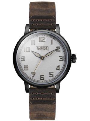 Mens Barbour International brown leather hawkins BB042SLBR Watch