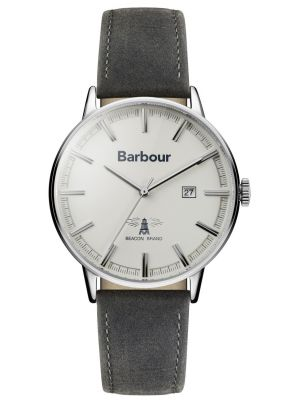 Mens Barbour Whitburn silver BB043WHGY Watch