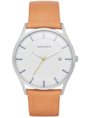 Mens Skagen Holst brown leather strap SKW6282 Watch