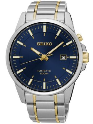 Mens Seiko Kinetic stainless steel gold SKA737P1 Watch