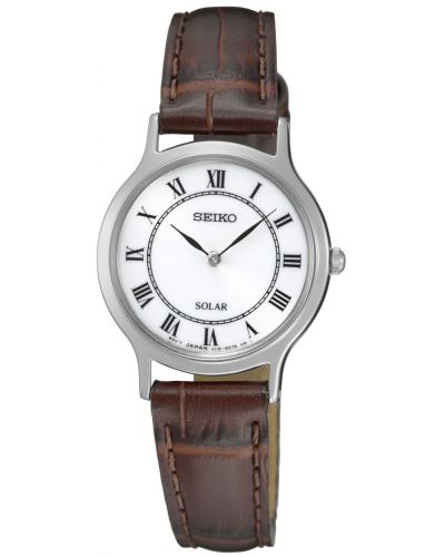 Womens Seiko Solar leather SUP303P1 Watch