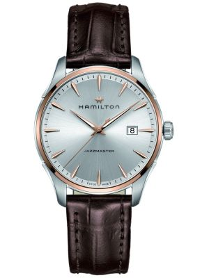 Hamilton American Classic Jazzmaster brown leather strap H32441551 Watch