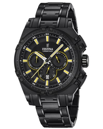 Mens Festina ChronoBike sports black ip F16969/3 Watch