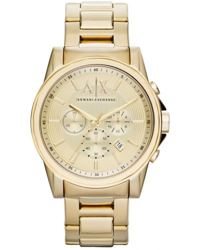 Mens Armani Exchange Outer Banks gold designer dress AX2099 Watch