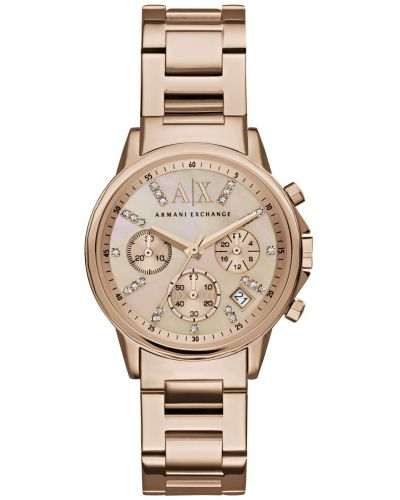 Womens Armani Exchange Lady Banks rose gold plated dress AX4326 Watch