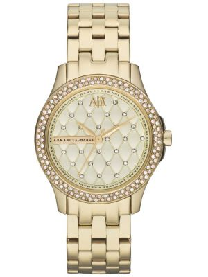 Womens Armani Exchange Lady Hampton gold plated AX5216 Watch