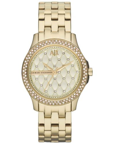 Womens Armani Exchange Lady Hampton gold plated AX5216 Watch