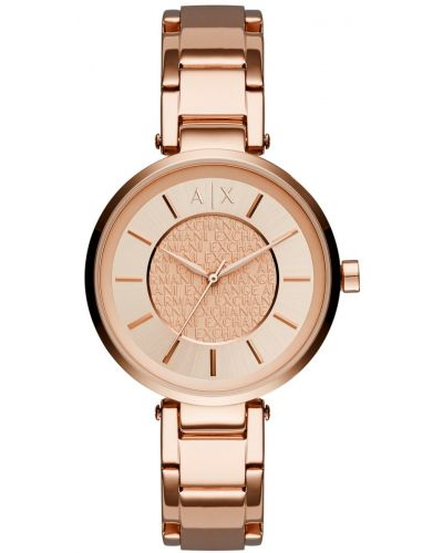 Womens Armani Exchange Olivia rose gold quartz AX5317 Watch