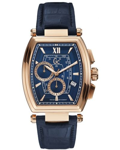 Mens GC Retro Class blue leather strap Y01004G7 Watch