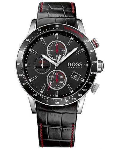 Mens Hugo Boss Rafale black leather chronograph 1513390 Watch