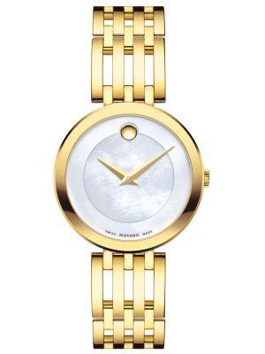 Womens Movado Esperanza swiss gold 607054 Watch