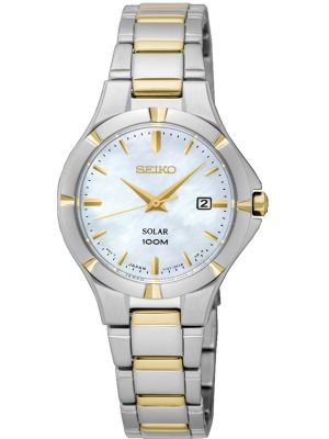 Seiko Solar mother of pearl SUT294P1 Watch