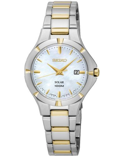 Womens Seiko Solar mother of pearl SUT294P1 Watch