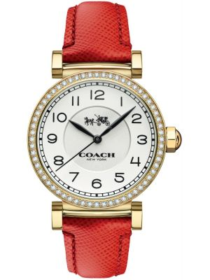 Womens Coach Madison red leather strap 14502400 Watch
