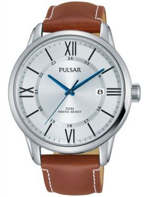 Mens Pulsar  Dress Wear stainless steel leather PS9469X1 Watch