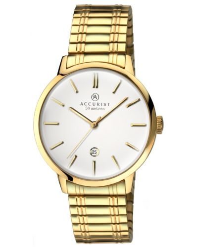 Mens Accurist Classic expander gold plated 7098.00 Watch