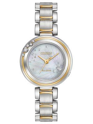 Womens Citizen Carina mother of pearl EM0464-59D Watch