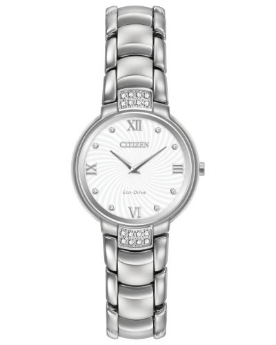 Womens Citizen Silhouette eco drive diamond EX1460-55A Watch