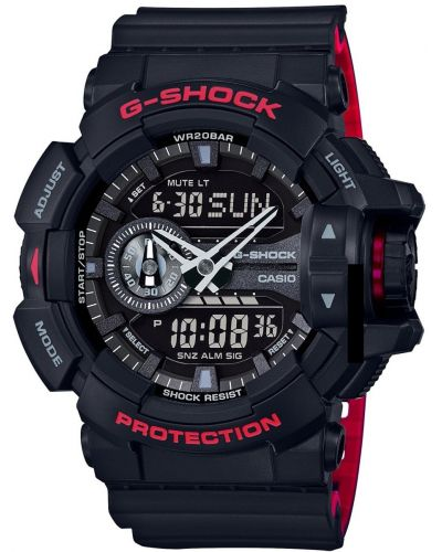Mens Casio G Shock Black and Red GA-400HR-1AER Watch