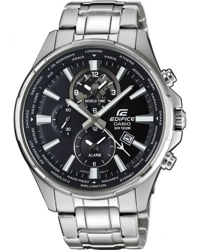 Mens Casio Edifice World Time Alarm EFR-304D-1AVUEF Watch