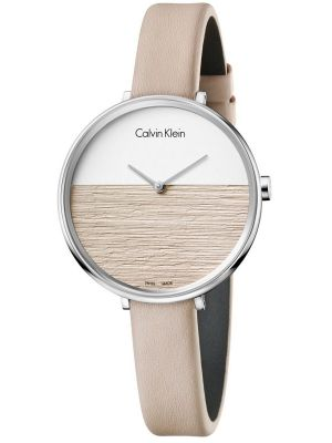 Womens Calvin Klein RISE Beige Strap K7A231XH Watch