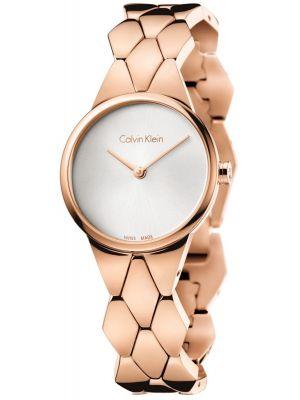 Womens Calvin Klein SNAKE Rose Gold K6E23646 Watch
