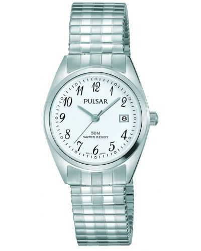 Womens Pulsar  Classic Expander Date Steel PH7443X1 Watch