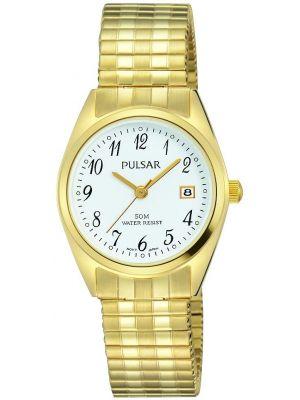 Womens Pulsar  Classic Gold Arabic Dial PH7444X1 Watch