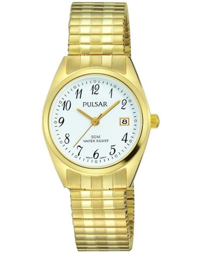 Womens Pulsar  Classic Gold Arabic Dial PH7444X1 Watch