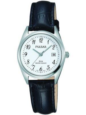 Womens Pulsar  Classic Date Black Strap PH7447X1 Watch
