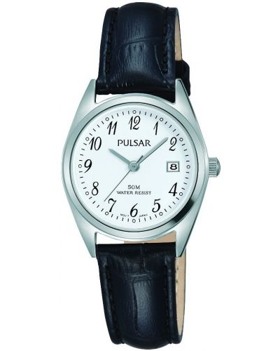 Womens Pulsar  Classic Date Black Strap PH7447X1 Watch