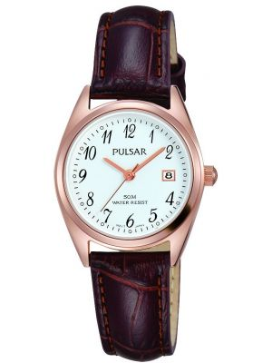 Womens Pulsar  Classic Rose Date Strap PH7448X1 Watch