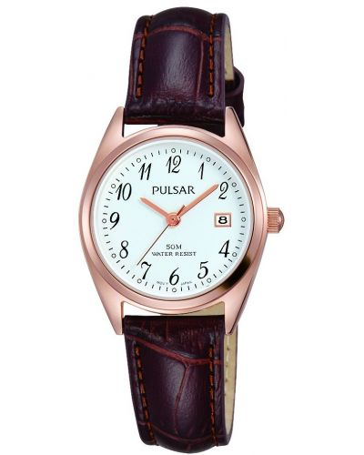 Womens Pulsar  Classic Rose Date Strap PH7448X1 Watch
