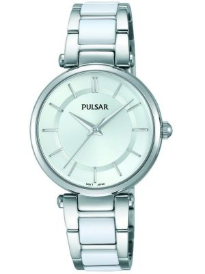 Womens Pulsar  Dress Wear Steel and Ceramic PH8191X1 Watch