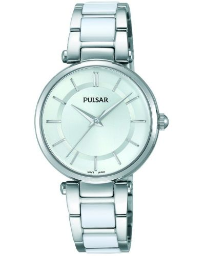 Womens Pulsar  Dress Wear Steel and Ceramic PH8191X1 Watch