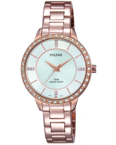 Womens Pulsar  Dress Wear Rose Crystal Set PH8220X1 Watch