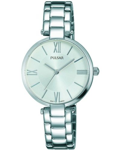 Womens Pulsar  Dress Wear Silver Steel PH8237X1 Watch