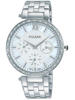 Womens Pulsar  Dress Wear Crystal Set Steel PP6211X1 Watch