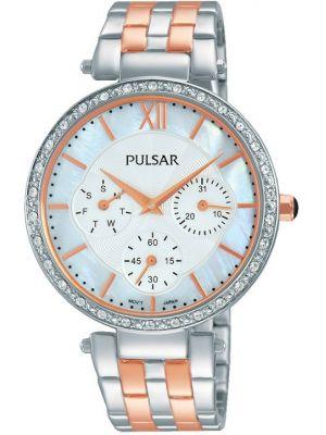 Womens Pulsar  Dress Wear Two Tone Crystal PP6213X1 Watch