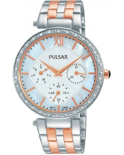 Womens Pulsar  Dress Wear Two Tone Crystal PP6213X1 Watch