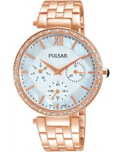 Womens Pulsar  Dress Wear Rose Crystal Set PP6214X1 Watch