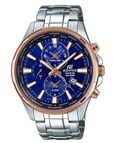 Mens Casio Edifice World Time Alarm EFR-304PG-2AVUEF Watch