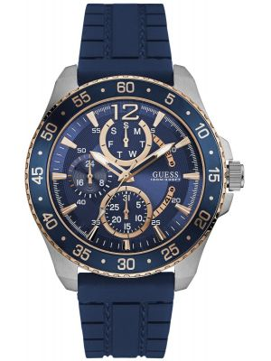 Mens Guess Jet Blue Rubber Strap W0798G2 Watch