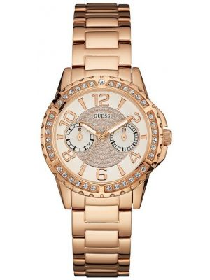 Womens Guess Sassy Rose Crystal Set W0705L3 Watch