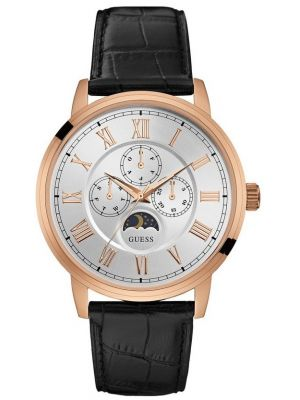 Mens Guess Delancy Rose with Black Strap W0870G2 Watch