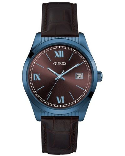 Mens Guess Baxster Blue and Brown W0874G3 Watch