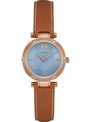 Womens Guess Park Ave South Rose with Brown Strap W0838L2 Watch