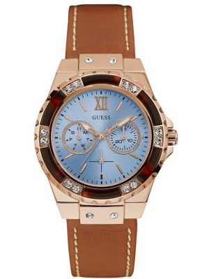 Womens Guess Limelight Rose Crystal Set W0775L7 Watch