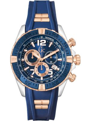 Mens GC SportRacer Blue and Rose Chronograph Y02009G7 Watch