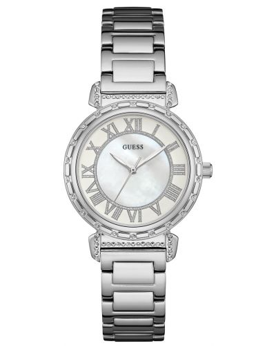 Womens Guess South Hampton Steel with Pearl Dial W0831L1 Watch